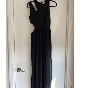 Silence and Noise Black Cut Out Maxi Dress